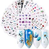 Nagelsticker, Kapmore 24 PCS Nagel Sticker Nail Art Sticker Nagelsticker Selbstklebend Kunst Aufkleber Maniküre Weihnachten Deko (1)