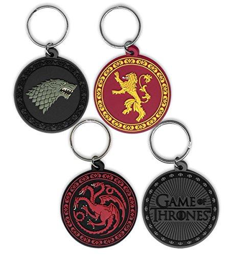 """Set de Llaveros """"Game of Thrones/Juego de Tronos"""""""