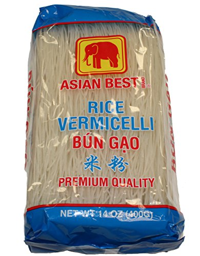 Asian Best Premium Rice Vermicelli Bun Gao, 140z (3 Packs)
