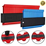 Gezhi 2 Pack Shape Contour Gauge Duplicator,Marking Quick Profile Simple Gauge,Ezgauge,Angle Finder Tool, Easy Fast Outline Gauge for Perfect Angles and Curves(10 Inch Red 5 Inch Blue) …