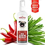 No Chew Spray for Dogs  100% Natural Dog and Puppy Behavioral Training Aid  Dog Chewing & Biting Repellent  Alcohol Free Anti Chew Deterrent for Puppies and Older Dogs, Safe on All Surfaces, 8 oz