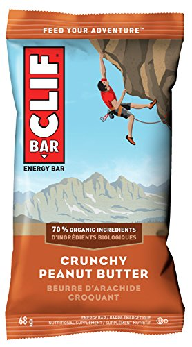 CLIF BAR - Energy Bars - Crunchy Peanut Butter - (68 Gram Protein Bars, 12 Count)