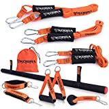 The Ultimate Full-Workout Band Set Resistance Bands | Exercise Bands and Pull up Bands for Home Workout |for Safe Workouts (Orange - Full Kit)