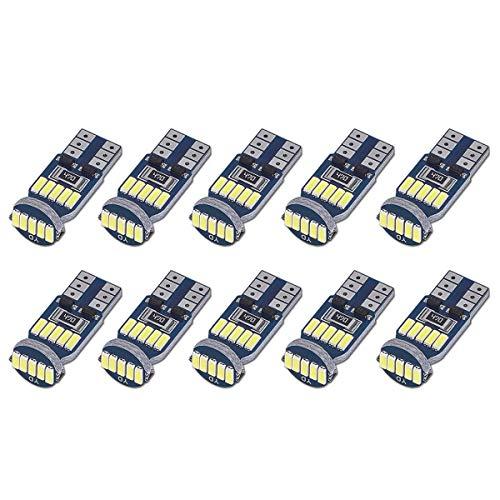 SanGlory 10 x T10 W5W LED Lampadine Canbus, Auto Lampade 15 x 4014 SMD LED per Luci di Posizione,...
