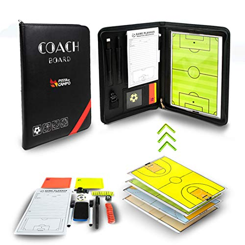 Magnetic Tactic Board Coach 4 In 1 Field Soccer, Basketball, Volleyball and Handball