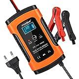 opamoo Chargeur de batterie voiture 12V 5A Intelligent Portable Chargeur de...
