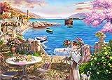 HUADADA Puzzle 1000 Pièces Adultes, Puzzle Classique Heure au Bord du Lac Puzzle Adulte et Enfant (70x50cm)
