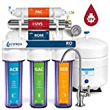Express Water Ultraviolet Reverse Osmosis Water Filtration System  6 Stage RO UV Water Sterilizer with Faucet and Tank  UV Under Sink Water Filter  100 GPD with Clear Housing