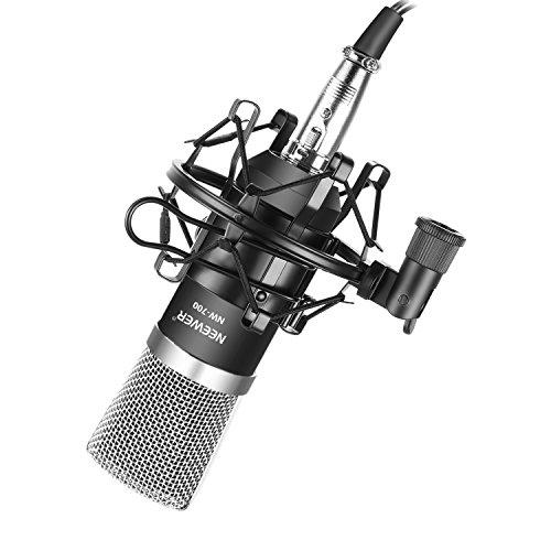 Neewer NW-700, Microfono a condensatore professionale da studio per trasmissione e registrazione,...