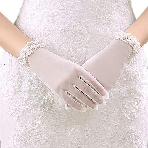 Guanti Da Sposa Guanti Da Sposa Perle Matrimonio Bianco Tinta Avorio Moda Unita Unique Stlie Guanti...