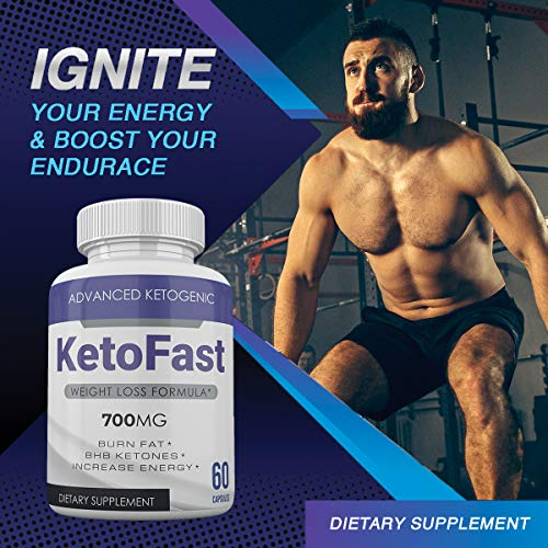 Keto Fast - Advanced Ketogenic Weight Loss Formula - 700MG - Burn Fat - BHB Ketones - Increase Energy - 60 Capsules - 3 Month Supply 4