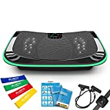 Bluefin Fitness 4D Triple Motor Vibration Plate   Powerful   Magnetic Therapy Massage   Curved Surface   4.0...