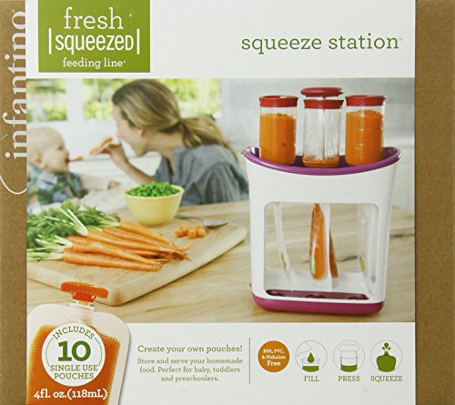 Infantino Squeeze Station Press & Store System for...