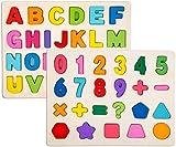 Sricam 2 pièces Puzzle Set pour Enfants - Puzzles en Bois Set...