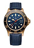 Blue Leather strap Bronze case, Blue dial Automatic movement Case diameter: 42mm Water resistant: 200m