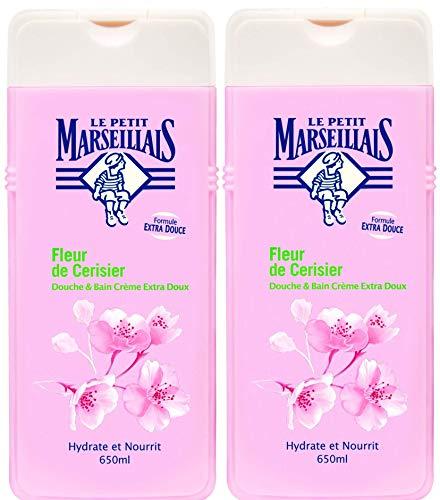 Le Petit Marseillais–Ducha y baño muy suave–flor de cerezo–Pintura–650ml–juego de 2