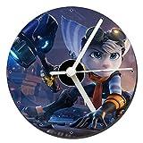 MasTazas Ratchet & Clank Rift Apart B Tischuhren CD Clock 12cm