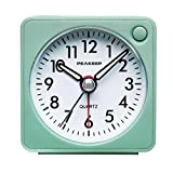 Ultra Small, Peakeep Battery Travel Alarm Clock with Snooze and Light, Silent with No Ticking Analog...