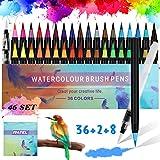 RATEL Set de stylos pinceaux Comprendre 36 Stylos pinceaux aquarelle avec...