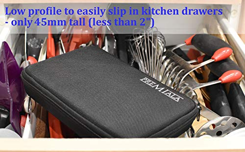 Product Image 5: Deluxe case for Premiala Meat Injector and compatible products - Luxurious Charcoal Woven Material with Zipper - Includes Custom Foam Cut-Outs