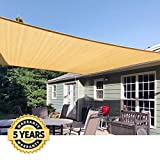 Quictent 13 X 10 ft 185G HDPE Rectangle Sun Sail Shade Canopy UV Block Top Outdoor Cover Patio Fabric Durable Garden Outdoo and Free Carry Bag Sand