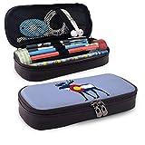 Estuche de cuero WU4FAAR, con cremallera, diseño de alces de la bandera de Colorado de Michael Rong con cremallera, bolsa de papelería, bolsa de cremallera