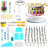 118 pcs Cake Decorating Supplies Kit Cake Baking Tools Cupcake Icing...