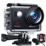 Victure Nativo 4K60FPS Action Cam 4K Schermo a Touch 20MP WiFi 40M Fotocamera Subacquea EIS 2×1350mAh Batterie Ricaricabili e Kit di Accessori
