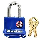Master Lock 312D  Weatherproof Padlock,Navy Blue