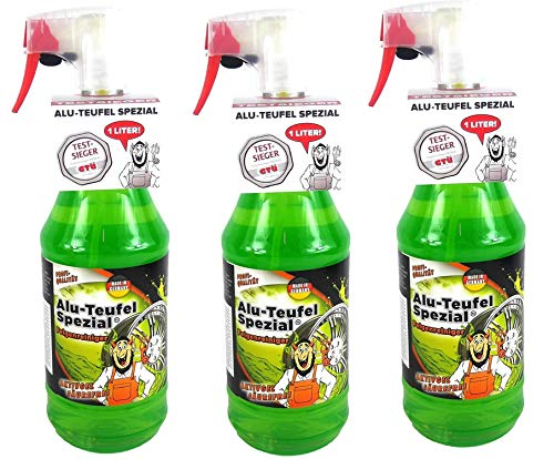 Tuga 3 x 1 Liter Alu-Teufel Felgenreiniger Spezial Säurefreies Aktivgel für Felgen und Radkappen. Biologisch abbbaubar