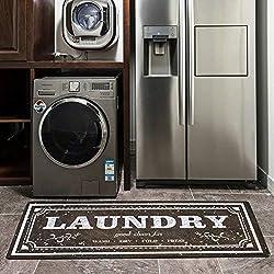 USTIDE Laundry Room Rug, Brown Laundry Floor Mat