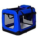 lionto by dibea Borsa trasportino per cani Scatola pieghevole per animali borsa per cani (S) 50x34x36 cm Blu