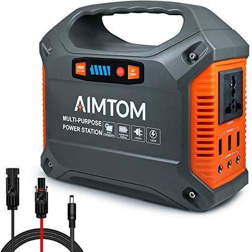 AIMTOM Portable Solar Generator, 42000mAh 155Wh Power Station,...