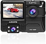 Dual Dash Cam Front and Inside, AZDOME Dash Camera Built-in GPS, 2.4 inches 6 LCD 1080P FHD Car Camera DVR Recorder with Sony IMX 323 Sensor, GPS,170° Wide Angle, WDR, Night Vision, Support 64GB Max