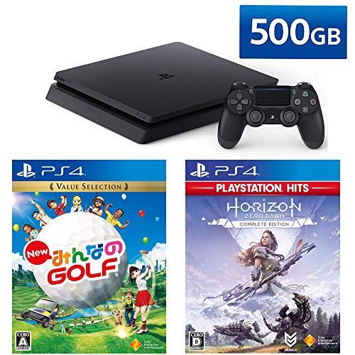 PlayStation 4 + New みんなのGOLF + Horizon Zero Dawn Complete Edition セット (ジェット・ブラック) (C...