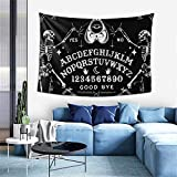 Vintage Skeleton Magic Ouija Board Black Tapestries, Boho Wall Tapestry Wall Hanging Tapestry - Home Indian Decor Retro Art Living Room Bedroom Dorm Room