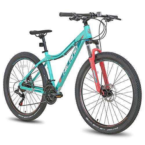 Product Image 1: Hiland 27.5 Inch Mountain Bike 24Speed MTB Bicycle for Women 16.5 Inch with Suspension Fork Urban Commuter City Bicycle Mint Green