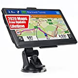 GPS Navigation for Car Truck RV, 7 Inch Touch Screen Vehicle GPS, Free Lifetime Maps of North America USA Canada Mexico, Lane Assistance, Spoken Turn-by-Turn Directions Ohrex Navigation System
