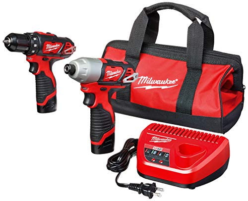 Milwaukee 2494-22 M12 Cordless Combination 3/8' Drill / Driver and 1/4' Hex...