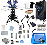 4 Color 4 Station Screen Printing Kit Screen Printing Assembly Screen...