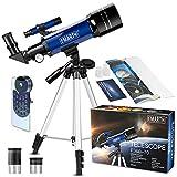 70 mm Télescope Astronomique pour Enfants Et débutants, Adulte, Portable...