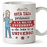 MUGFFINS Enfermera Tazas Originales de café y Desayuno para Regalar a Trabajadores Profesionales -...