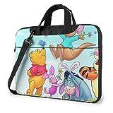 15.6 ″ Viaje de Negocios Winnie The Pooh con Mariposa Laptop Notebook PC Maletín Bandolera Bandolera Funda