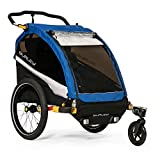 Burley D'Lite 1 and 2 Seat Kids Bike Trailer & Stroller with Seat Recline and Suspension