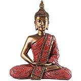 KOH DECO Statue de Bouddha Sukhothai 30 cm - Rouge
