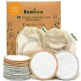 Disques Démaquillants Lavables avec 2 Sacs pour la Lessive et le Rangement - Lot de 22 Disques -...
