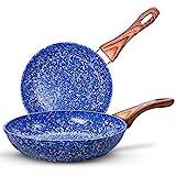 MICHELANGELO Nonstick Frying Pans, Granite...