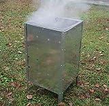 Garden Mile Incinérateur de jardin en acier galvanisé 90 l