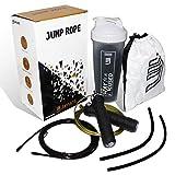 Jaylete Jump Rope Springseil mit Tasche - Ausdauer-Sport im Gym, Crossfit, Boxen, Fitness-Studio, HIIT, MMA,...