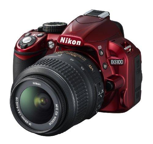 Nikon fotocamere reflex (modello: d3100; generale:rosso, lega di magnesio, obiettivi inclusi : 1 , af-s dx)